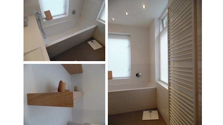 Badkamer karakteristiek jaren 30 woonhuis Moderne badkamers van Studio'OW Interieurontwerp Modern