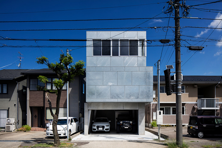 吉田裕一建築設計事務所 Minimalist house Iron/Steel Metallic/Silver