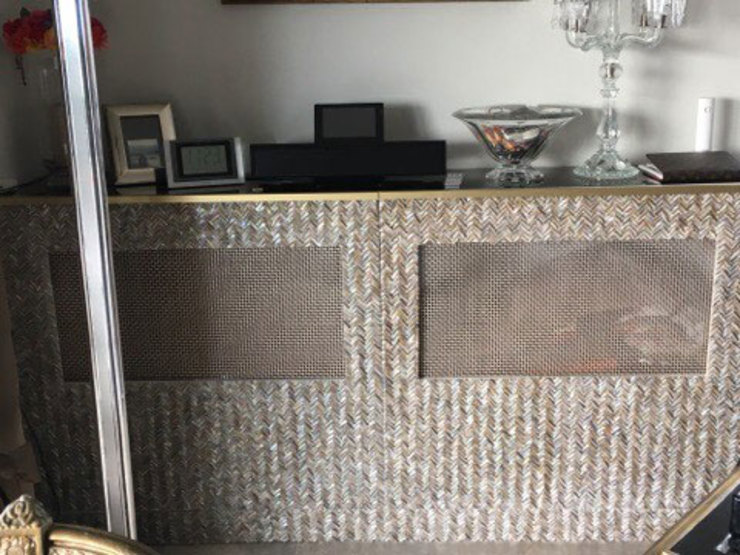 River Shell Teeth Radiator Covers ShellShock Designs SalonesAccesorios y decoración Azulejos Multicolor