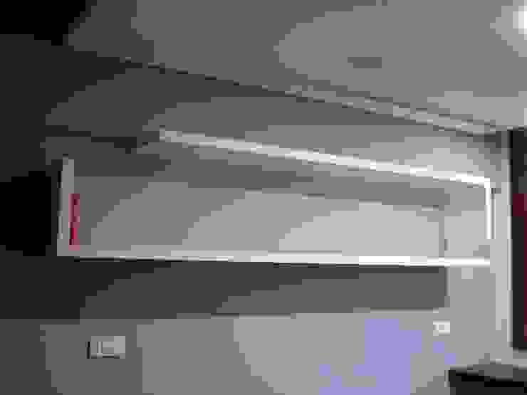 escritório 1_estante por Emprofeira - empresa de projectos da Feira, Lda. Minimalista MDF