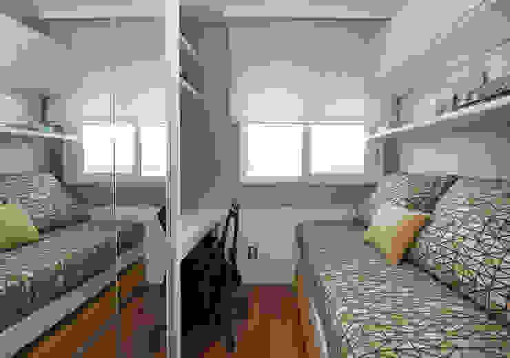 Danyela Corrêa Arquitetura Modern Bedroom Wood-Plastic Composite Yellow