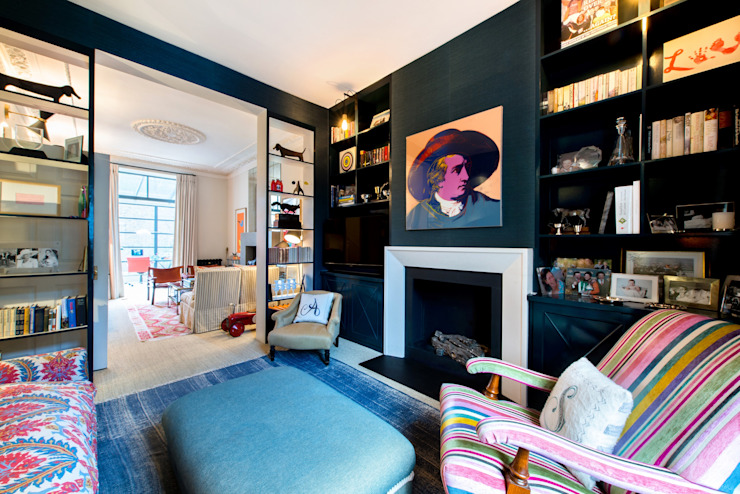 Fulham Road Salones de estilo moderno de Orchestrate Design and Build Ltd. Moderno