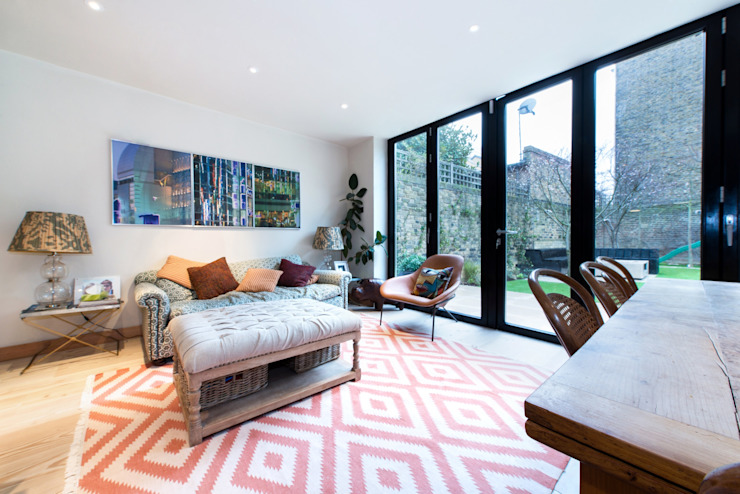 Fulham Road:  Living room by Orchestrate Design and Build Ltd., Modern