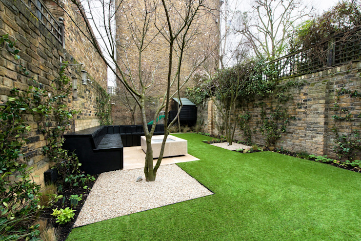 Fulham Road Jardines de estilo moderno de Orchestrate Design and Build Ltd. Moderno