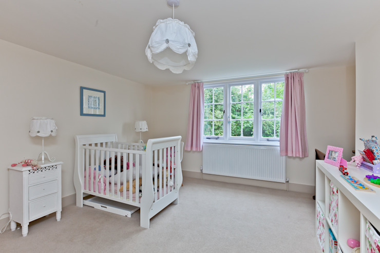 Japonica Cottage, Surrey :  Nursery/kid's room by Orchestrate Design and Build Ltd.,