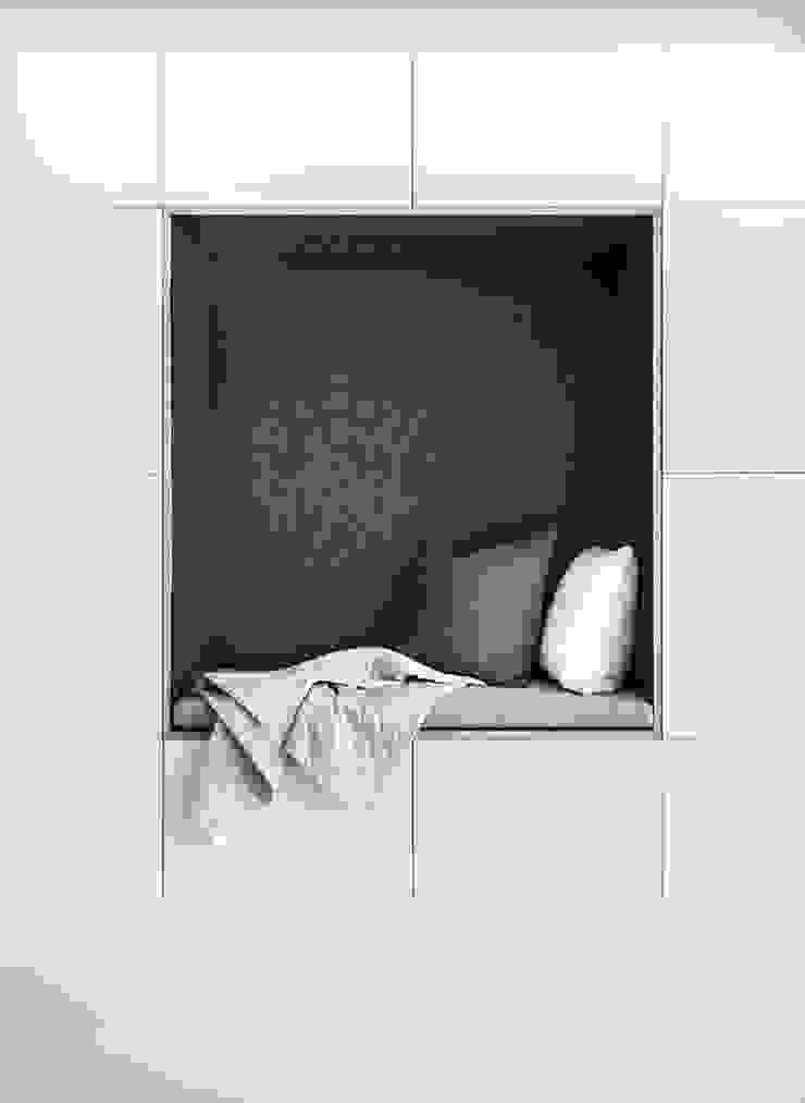 Design Studio Nu Soggiorno in stile scandinavo MDF Bianco