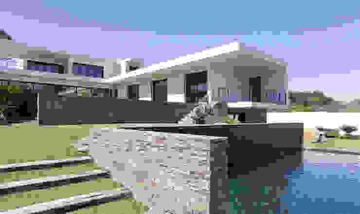 MORADIA BIRRE Casas modernas por fernando piçarra fotografia Moderno
