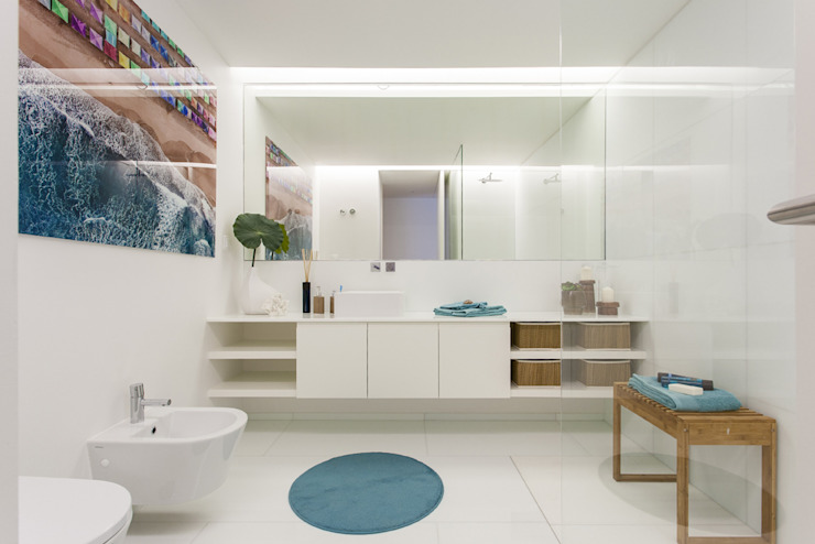 Casa de Banho da Suite de Rapaz por Traço Magenta - Design de Interiores Moderno