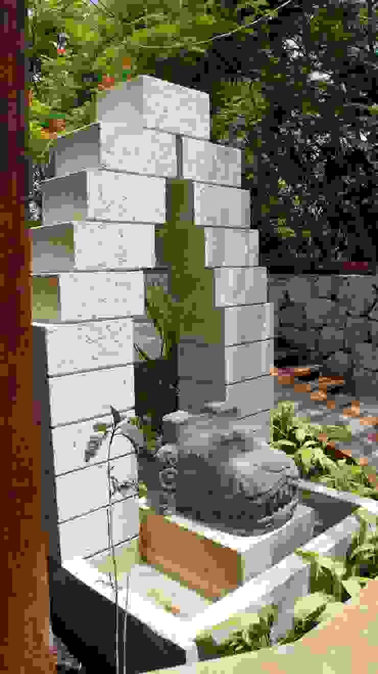 proyecto y obra spa Jardines rústicos de FRACTAL CORP Arquitectura Rústico