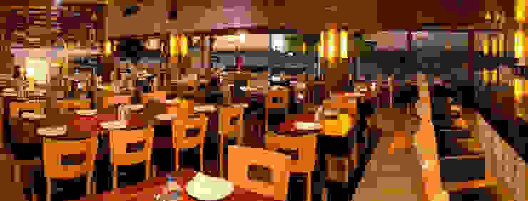 proyecto y obra restaurant Comedores eclécticos de FRACTAL CORP Arquitectura Ecléctico