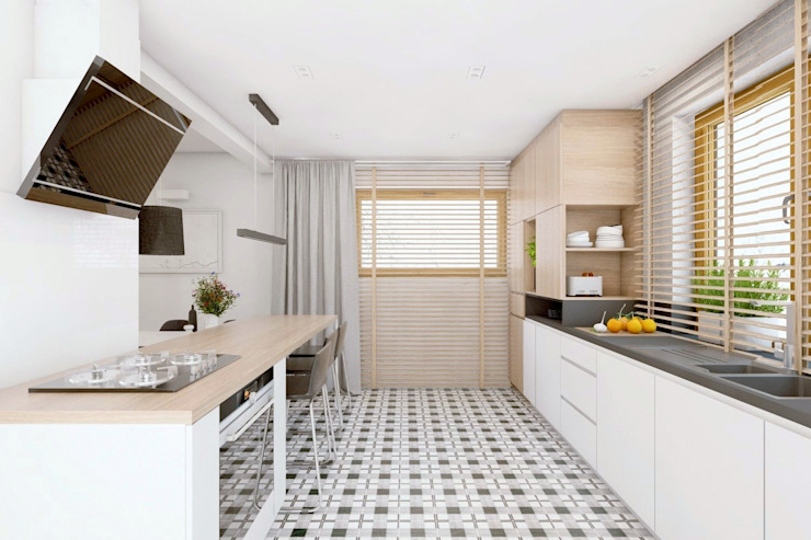 BAGUA Pracownia Architektury Wnętrz Cocinas escandinavas