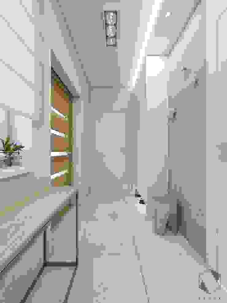 BAGUA Pracownia Architektury Wnętrz Scandinavian style corridor, hallway& stairs