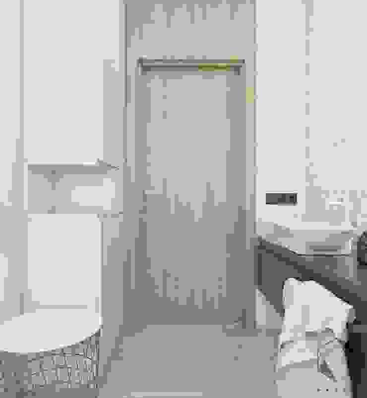 Projekt domu jednorodzinnego 12 Skandynawska łazienka od BAGUA Pracownia Architektury Wnętrz Skandynawski
