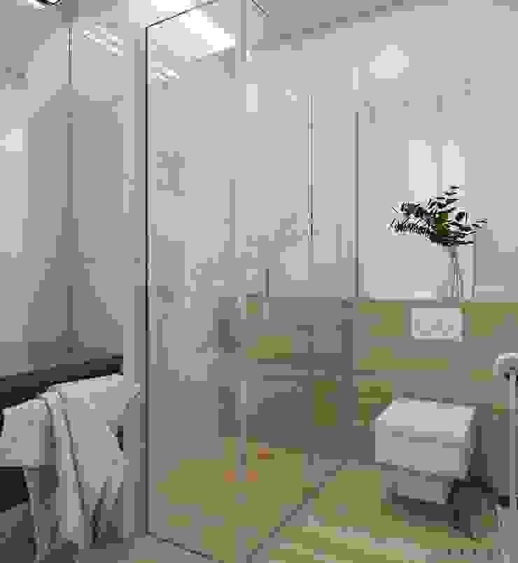 Projekt domu jednorodzinnego 12 Nowoczesna łazienka od BAGUA Pracownia Architektury Wnętrz Nowoczesny