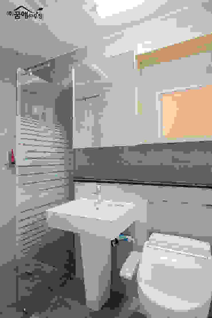 힐링이 되는, 제주도 목조주택 지중해스타일 욕실 by 꿈애하우징 지중해