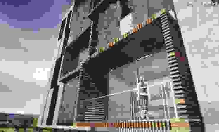 VISTA DE BALCONES Casas modernas de CA ARQUITECTOS Moderno Concreto