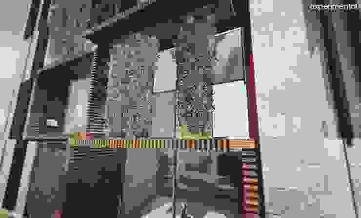 VISTA A MUROS VERDES EN FACHADA Casas modernas de CA ARQUITECTOS Moderno Concreto