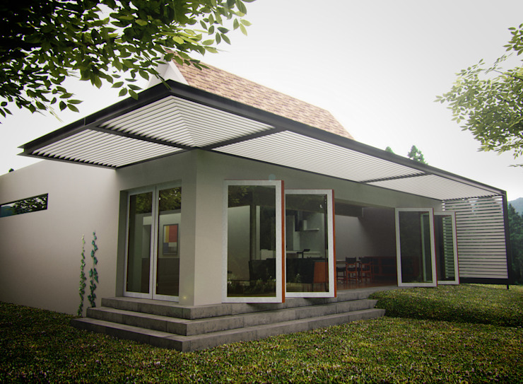 Ampliación casa habitación Hoffmann Casas modernas de rochen Moderno Ladrillos