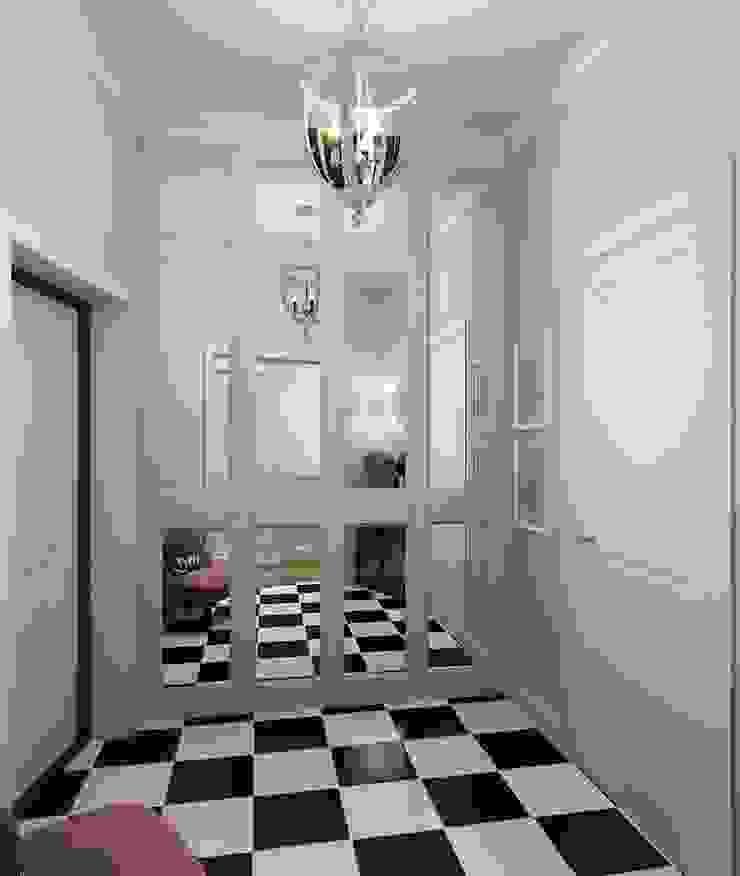 Massimos / cтудия дизайна интерьера Ingresso, Corridoio & Scale in stile classico Piastrelle Grigio