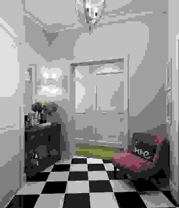 Massimos / cтудия дизайна интерьера Classic style corridor, hallway and stairs Purple/Violet