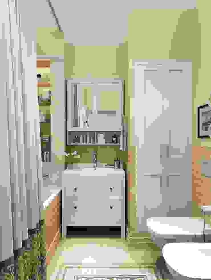 Massimos / cтудия дизайна интерьера Classic style bathroom Tiles Beige