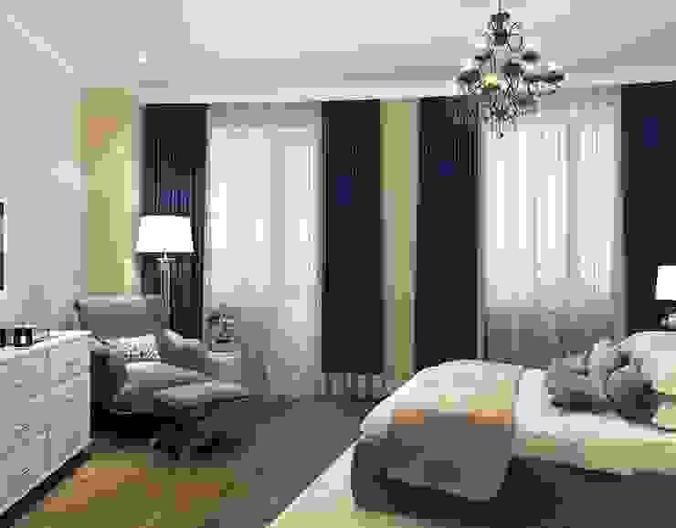 Massimos / cтудия дизайна интерьера Camera da letto in stile classico Blu