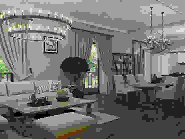غرفة المعيشة تنفيذ Wide Design Group, كلاسيكي