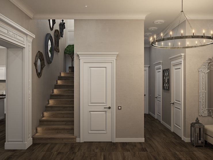 Wide Design Group クラシカルスタイルの 玄関&廊下&階段