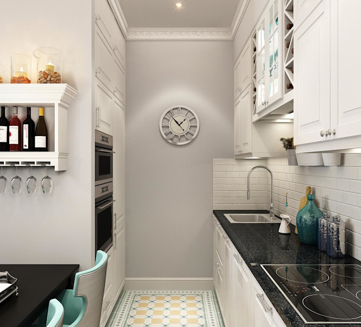 Massimos / cтудия дизайна интерьера Cucina in stile classico Bianco
