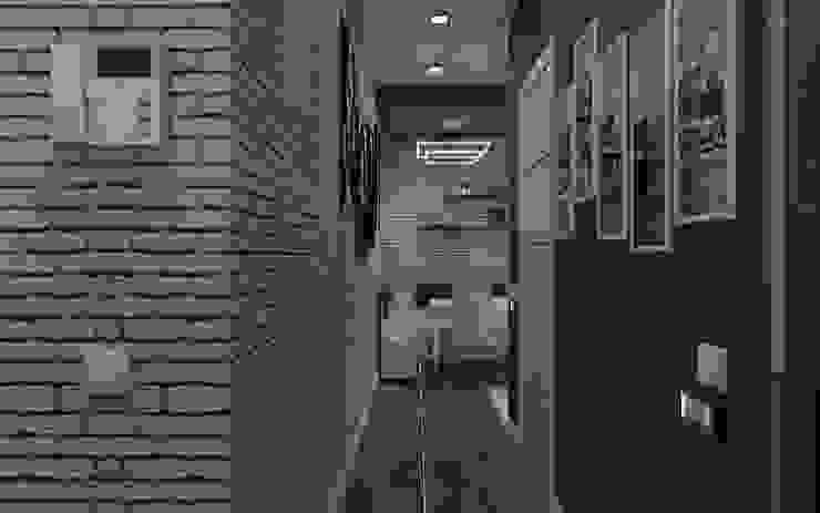 homify Industrialny korytarz, przedpokój i schody