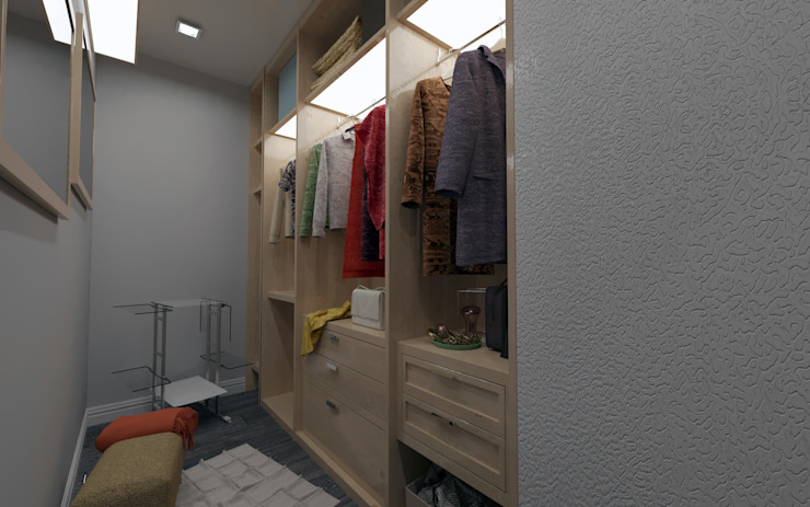 Industrial style dressing room by homify Industrial