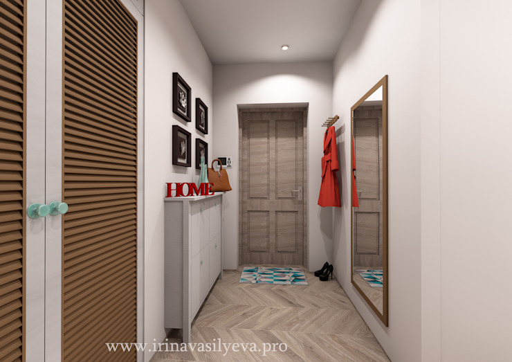 Irina Vasilyeva Eklektyczny korytarz, przedpokój i schody