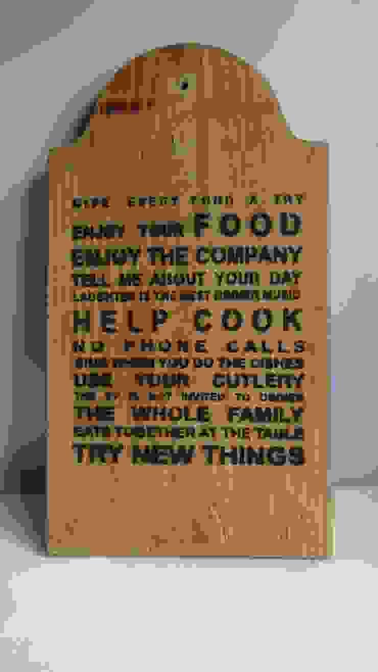Placa para cozinha por Interior Vivo Eclético Madeira Acabamento em madeira