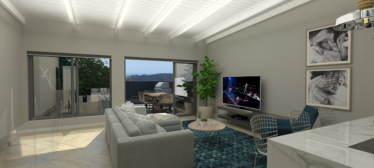 TV Room by Holloway and Davel architects