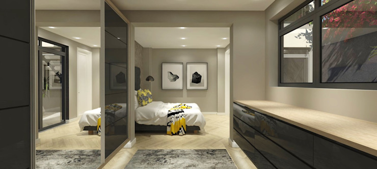 Main bedroom by Holloway and Davel architects