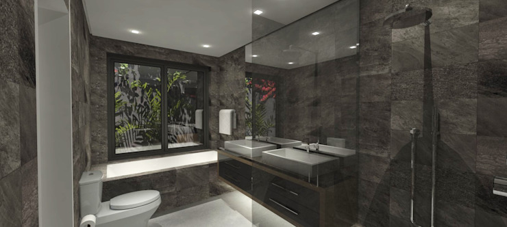 Bathroom design by Holloway and Davel architects