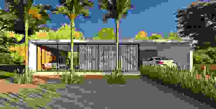 Lopes e Theisen Arquitetura Maisons minimalistes Béton Blanc