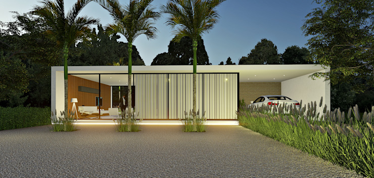 Lopes e Theisen Arquitetura Minimalist house Concrete White