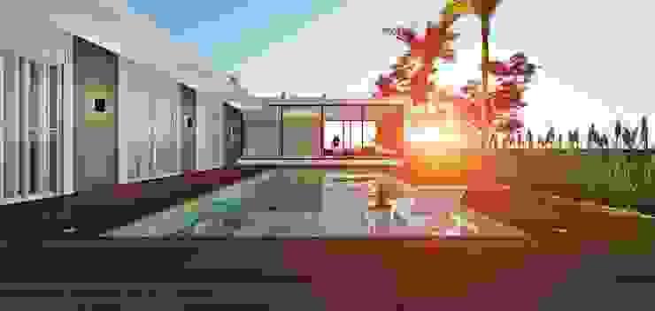 Lopes e Theisen Arquitetura Pool Concrete White
