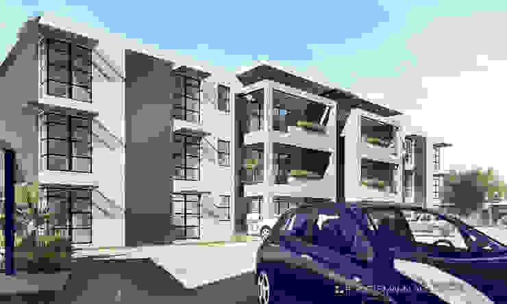 Apartments, Lusaka, Zambia Modern houses by Gottsmann Architects Modern Bricks