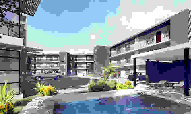 Apartments, Lusaka, Zambia by Gottsmann Architects Modern Concrete