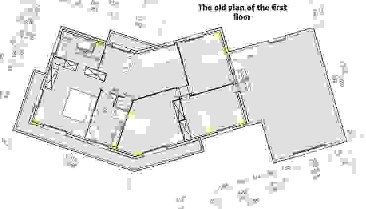 Do antigo plano do primeiro andar Casas clássicas por D O M | Architecture interior Clássico