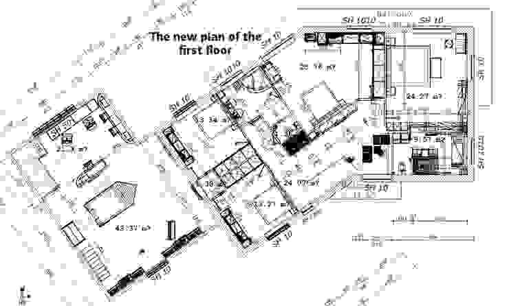 O novo plano do primeiro andar Casas clássicas por D O M | Architecture interior Clássico