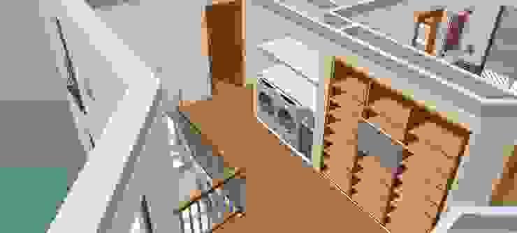 Hall primeiro andar -3D1 Corredores, halls e escadas clássicos por D O M | Architecture interior Clássico