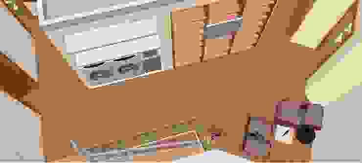 Hall primeiro andar -3D2 Corredores, halls e escadas clássicos por D O M | Architecture interior Clássico