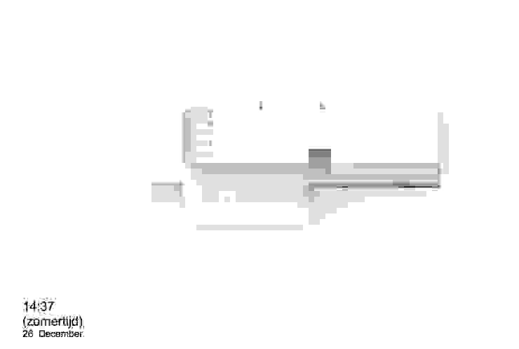 Zonnestudie (topview) van de villa: modern  door Studio Ruimte, Modern