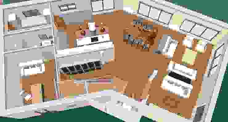 ground floor-3D1 Cozinhas clássicas por D O M | Architecture interior Clássico