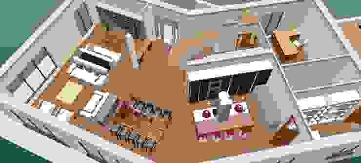 ground floor-3D2 Cozinhas clássicas por D O M | Architecture interior Clássico