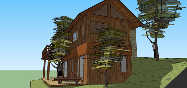 Rustic style houses by Paico Rustic Wood Wood effect