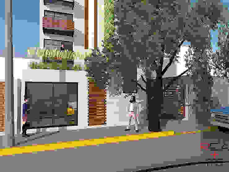 Departamentos CDMX Casas modernas de REA + m3 Taller de Arquitectura Moderno